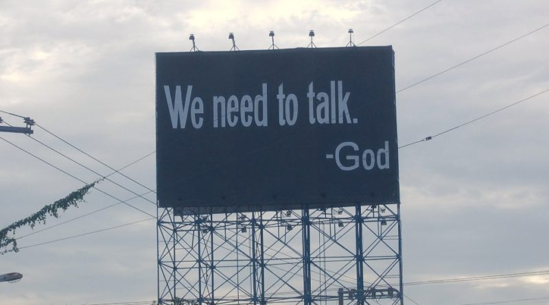 We need to talk - God by George Parilla