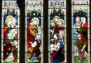 Jesus heals - stained glass