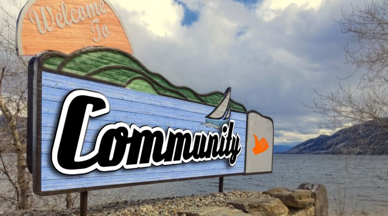 Welcome to Community sign