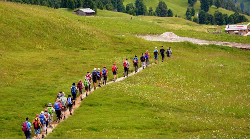 Journey group hike