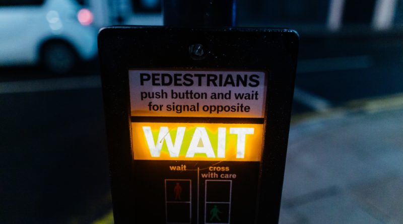Pedestrian wait sign
