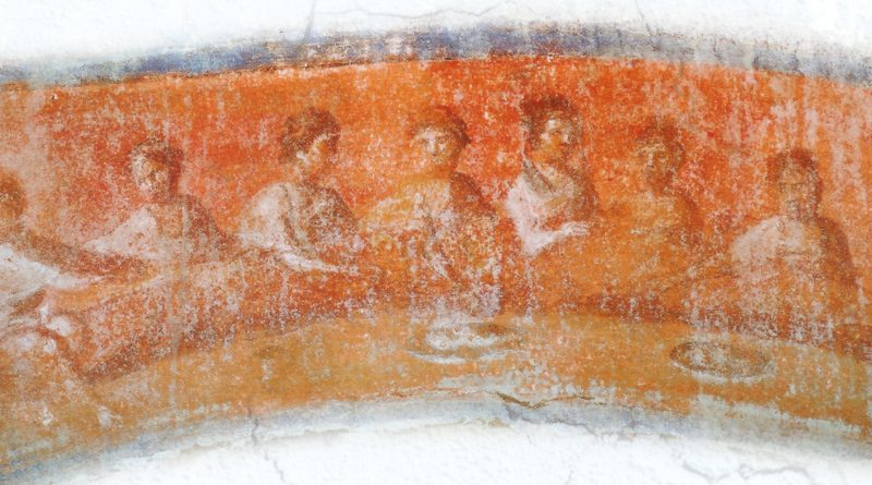 Agape feast, Catacombe of Priscilla, Rome 2nd-4th century